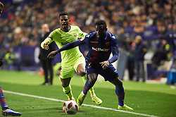 January 10, 2019 - Valencia, Valencia, Spain - Simon of Levante UD and Nelson Semedo of FC Barcelona during the Spanish Copa del Rey match between Levante and Barcelona at Ciutat de Valencia Stadium on Jenuary 10, 2019 in Valencia, Spain. (Credit Image: © Maria Jose Segovia/NurPhoto via ZUMA Press)