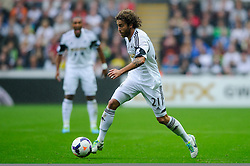 Swansea Midfielder Jose Alberto Canas (ESP) in action during the first half of the match - Photo mandatory by-line: Rogan Thomson/JMP - Tel: Mobile: 07966 386802 17/08/2013 - SPORT - FOOTBALL - Liberty Stadium, Swansea -  Swansea City V Manchester United - Barclays Premier League - First round of the 2013/14 season and the first league match for new Man Utd manager David Moyes.
