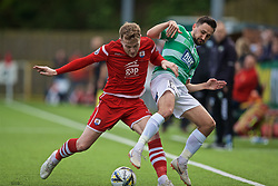RHOSYMEDRE, WALES - Sunday, May 5, 2019: Connah's Quay Nomads' John Disney (L) and Ryan Brobbel (R) during the FAW JD Welsh Cup Final between Connah's Quay Nomads and The New Saints at The Rock. (Pic by David Rawcliffe/Propaganda)
