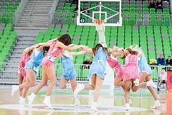 Dance team Zmajcice during basketball match between KK Union Olimpija Ljubljana and KK Crvena zvezda Telekom (SRB) in 19th Round of ABA League 2015/16, on January 11, 2016 in Arena Stozice, Ljubljana, Slovenia. Photo by Urban Urbanc / Sportida