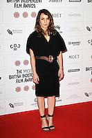 LONDON - DECEMBER 09: Noomi Rapace attended The British Independent Film Awards at the Old Billingsgate Market, London, UK. December 09, 2012. (Photo by Richard Goldschmidt)
