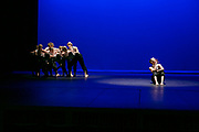 Dance Wisconsin members perform during their dress rehearsal of New Works at Mitby Theater at Madison Area Technical College in Madison, Wisconsin on October 5, 2017. <br /> <br /> www.bethskogen.com