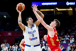 Ioannis Bourousis of Greece vs Andrey Vorontsevich of Russia during basketball match between National Teams of Greece and Russia at Day 14 in Round of 16 of the FIBA EuroBasket 2017 at Sinan Erdem Dome in Istanbul, Turkey on September 13, 2017. Photo by Vid Ponikvar / Sportida