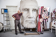 David Adickes poses for a portrait at his studio near downtown Houston Tuesday November 28, 2017. (Michael Starghill, Jr.)