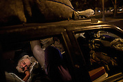 Gary Mitchell lives in his car while getting medical treatments in Fresno, Calif., September 20, 2012.