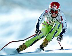 SKI ALPIN: Alpine Ski-WM 2005, Damen, Kombination, Abfahrt, Bormio, 04.02.2005<br /> Tina MAZE (SLO)<br /> Photo by Pixathlon / Sportida Photo Agency