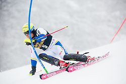 Mattias Hargin (SWE) competes during 1st Run of 10th Men's Slalom race of FIS Alpine Ski World Cup 55th Vitranc Cup 2016, on March 6, 2016 in Podkoren, Kranjska Gora, Slovenia. Photo by Vid Ponikvar / Sportida