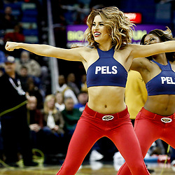Dec 8, 2016; New Orleans, LA, USA; New Orleans Pelicans dance team performs during the second half of a game against the Philadelphia 76ers at the Smoothie King Center.  The 76ers defeated the Pelicans 99-88. Mandatory Credit: Derick E. Hingle-USA TODAY Sports