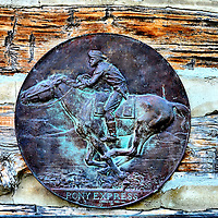 Pony Express Plaque at Ehmen Park Station in Gothenburg, Nebraska<br />