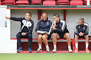 AFC Wimbledon manager Neal Ardley pointing during the Pre-Season Friendly match between Ebbsfleet and AFC Wimbledon at Stonebridge Road, Ebsfleet, United Kingdom on 29 July 2017. Photo by Matthew Redman.