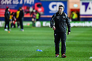 Scarlets backs coach Stephen Jones during the pre match warm up<br /> <br /> Photographer Craig Thomas/Replay Images<br /> <br /> European Rugby Champions Cup Round 5 - Scarlets v Toulon - Saturday 20th January 2018 - Parc Y Scarlets - Llanelli<br /> <br /> World Copyright &copy; Replay Images . All rights reserved. info@replayimages.co.uk - http://replayimages.co.uk