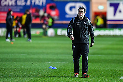 Scarlets backs coach Stephen Jones during the pre match warm up<br /> <br /> Photographer Craig Thomas/Replay Images<br /> <br /> European Rugby Champions Cup Round 5 - Scarlets v Toulon - Saturday 20th January 2018 - Parc Y Scarlets - Llanelli<br /> <br /> World Copyright © Replay Images . All rights reserved. info@replayimages.co.uk - http://replayimages.co.uk