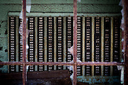 Time card file in the abandoned Fort Pitt Steel Casting plant in McKeesport, Pennsylvania, USA on May 14, 2014. <br /> <br /> McKeesport has a population of about 20,000, down from over 55,000 in 1940, due to the decline of the steel industry. The major employer was the National Tube Works, a manufacturer of iron pipes, which once employed 10,000 men.<br /> <br /> By early 1984, operations at McKeesport Steel Castings had all but ceased.