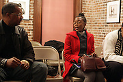 l to r: Jamel Shabazz, Delphine Faunwdu-Buford at Artist talk of ' Shoot-Out: Lonely Crusade..An Homage to Jamel Shabazz ' held at The George and Leah McKenna African American Museum of Art on December 12, 2008 in New Orleans, Louisana