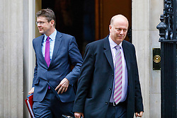 © Licensed to London News Pictures. 10/01/2017. London, UK. Business Secretary GREG CLARK and Transport Secretary CHRIS GRAYLING attend a cabinet meeting in Downing Street on Tuesday, 10 January 2017. Photo credit: Tolga Akmen/LNP