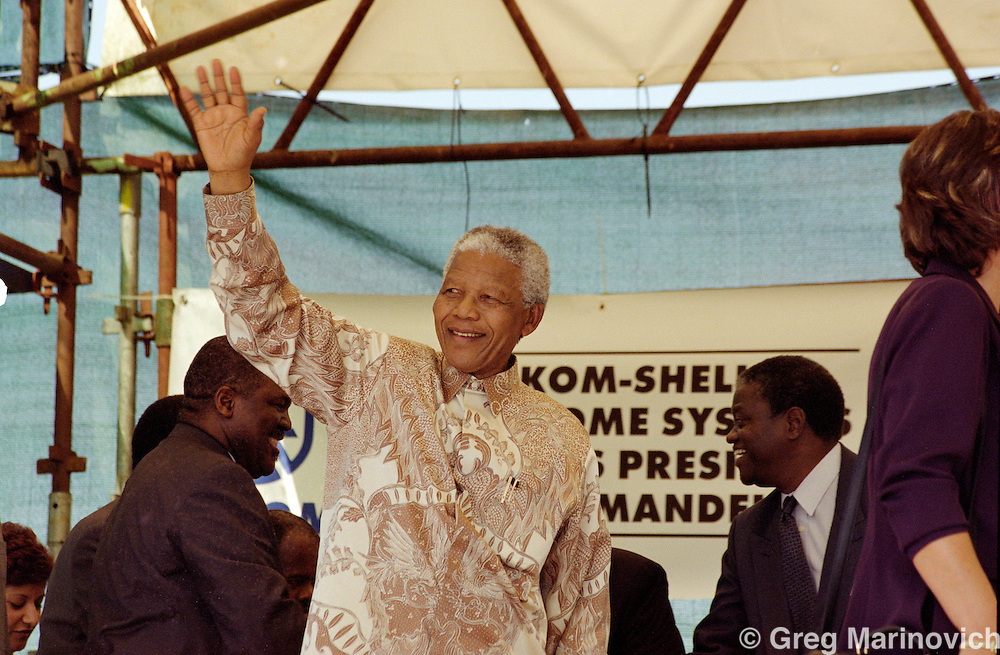 Nelson Mandela in Eastern Cape, former Transkei, 24 February 1999
