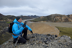05-07-2014 NED: Iceland Diabetes Challenge dag 1, Landmannalaugar <br /> Vandaag ging de challenge van start. Met een bus gingen we van Vogar naar Landmannalaugar en zagen we de eerste tekenen van het prachtige landschap van IJsland / Andre