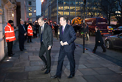 © Licensed to London News Pictures. 23/01/2013. London, UK. The British Prime Minister, David Cameron, arrives at the headquarters of financial news corporation Bloomberg in London today (23/01/13) as he prepares to give a keynote speech on Britain's future in Europe. The prime minister is expected to call for the terms of Great Britain's membership of the union to be re-negotiated. Photo credit: Matt Cetti-Roberts/LNP