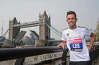 Virgin Money London Marathon 2015<br /> <br /> Lee Hendrie-UK (Footballer England & Aston Villa) one of the celebrities  competing in the IVirgin Money London Marathon<br /> <br /> Photo: Bob Martin for Virgin Money London Marathon<br /> <br /> This photograph is supplied free to use by London Marathon/Virgin Money.
