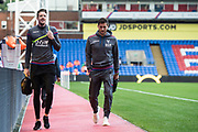 Crystal Palace #13 Wayne Hennessey, Crystal Palace #2 Joel Ward arrived for  the EFL Cup match between Crystal Palace and Huddersfield Town at Selhurst Park, London, England on 19 September 2017. Photo by Sebastian Frej.