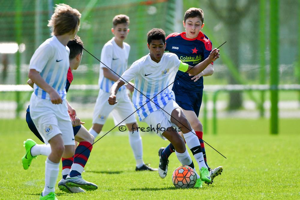 01.04.2017; Zuerich; <br /> Fussball FC Zuerich - FE15 Oberland - Red Star;<br /> Marc Kramer (Zuerich) <br /> (Andy Mueller/freshfocus)