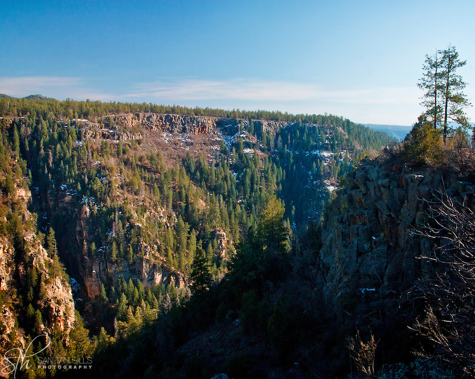 Looking across Oak Creek Canyon - AZ