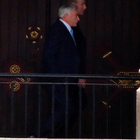 London Feb 10 Disgraced  RBS bankers Sir Fred Goodwin and Sir Tim McKillop leave Westminster after  their appearence in front of the  Treasury Select Committee...Standard Licence feee's apply  to all image usage.Marco Secchi - Xianpix tel +44 (0) 845 050 6211 .e-mail ms@msecchi.com .http://www.marcosecchi.com