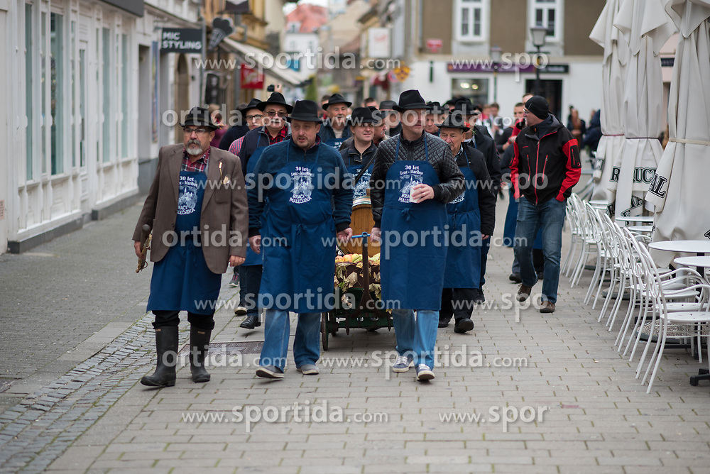 Braci from Malecnik during martinovanje, St. Martin's Day Celebration on November 11, 2019 in Maribor, Slovenia. Photo by Milos Vujinovic / Sportida