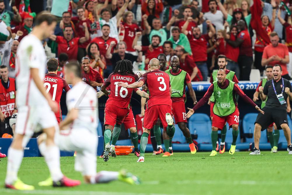 MARSEILLE, FRANCE, 30.06.2016 - PORTUGAL-POLAND - Renato Sanches from Portugal celebrates after scoring goal in match against Poland valid for the quarterfinals of Euro 2016 at the Velodrome stadium in Marseille, on Thursday (30) .