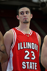 16 October 2008: Landon Shipley at Illinois State University Redbirds Men's basketball media day on Doug Collins Court inside Redbird Arena on the campus of Illinois State University in Normal Illinois