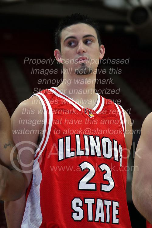 16 October 2008: Landon Shipley at Illinois State University Redbirds Men's basketball media day on Doug Collins Court inside Redbird Arena on the campus of Illinois State University in Normal Illinois