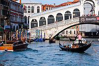 Italy, Venice. The Rialto Bridge.