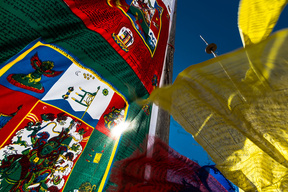 I really love this image of the prayer flags in Bhutan. I wanted to capture the graphic nature of the image  while using the sun and the amazing blue sky. Prayer flags are so important for the people of Bhutan.