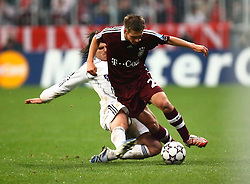 Munich, Germany - Wednesday, March 7, 2007: Bayern Munich's Philipp Lahm in action against Real Madrid during the UEFA Champions League First Knock-out Round 2nd Leg at the Allianz Arena. (Pic by Christian Kolb/Propaganda/Hochzwei) +++UK SALES ONLY+++