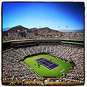 March 20, 2015, Indian Wells, California:<br /> An overall view of Stadium 1 as Roger Federer plays Tomas Berdych on day twelve at the Indian Wells Tennis Garden in Indian Wells, California Friday, March 20, 2015.<br /> (Photo by Billie Weiss/BNP Paribas Open)