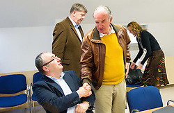Srecko Barbic and Ljubo Jasnic during meeting of Executive Committee of Ski Association of Slovenia (SZS) on March 10, 2014 in SZS, Ljubljana, Slovenia. Photo by Vid Ponikvar / Sportida