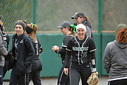 SU softball split their home opening double header with Widener. taking the first game 7-6 and dropping the second game 5-1 on Saturday afternoon at Weinberg-Fine Stadium in Owings Mills.