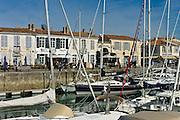 Harbour scene Quai Job Foran, St Martin de Re on Ile de Re in France