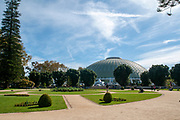 Rosa Mota Pavilion. A sport, concert and exhibit hall in Crystal Palace Gardens (Jardins do Palacio de Cristal), Porto, Portugal