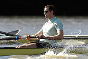Putney. GREAT BRITAIN; during the Cambridge University; vs German National Eight race; raced over the Boat Race Course; Championship Course; between Putnay and Chiswick; on the River Thames; London; on Sat.; 03.03.2007; Photo Peter Spurrier/Intersport Images; Kieran WEST  [Mandatory Credit, Peter Spurier/ Intersport Images]. , Rowing Course: River Thames, Championship course, Putney to Mortlake 4.25 Miles, , Varsity Boat Race.