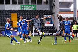 Josh Knight of Leicester City controls the ball despite pressure from Notts County players - Mandatory by-line: Ryan Crockett/JMP - 21/07/2018 - FOOTBALL - Meadow Lane - Nottingham, England - Notts County v Leicester City - Pre-season friendly