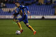 10 Nathan Thomas for Shrewsbury Town races towards goal during the EFL Sky Bet League 1 match between Shrewsbury Town and Peterborough United at Greenhous Meadow, Shrewsbury, England on 24 April 2018. Picture by Graham Holt.