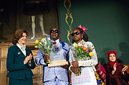 Manuel Rodrigues from Guinea-Bissau, recipient of the World&rsquo;s Children&rsquo;s Prize for the Rights of the Child.&nbsp;With H.M Queen Silvia and Isabel Sane. The World&rsquo;s Children&rsquo;s Prize Ceremony 2017 is held at Gripsholms Castle in Mariefred, Sweden. Photo: Sofia Marcetic/World's Children's Prize<br />