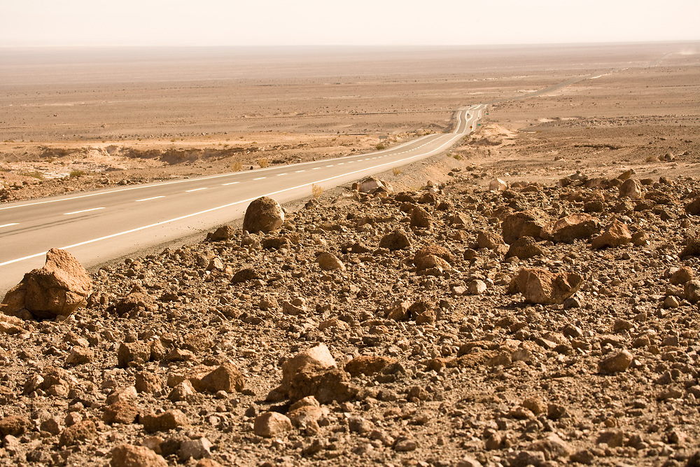 Road in the Atacama desert, Chile, South America