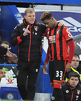 Football - 2016 / 2017 Premier League - Chelsea vs. AFC Bournemouth<br /> <br /> Jordan Ibe with Bournemouth Manager Eddie Howe at Stamford Bridge.<br /> <br /> COLORSPORT/ANDREW COWIE