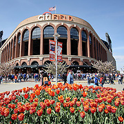 NEW YORK, NEW YORK - APRIL 30:  Citi Field, home of the New York Mets before a springtime match during the New York Mets Vs San Francisco Giants MLB regular season game at Citi Field on April 30, 2016 in New York City. (Photo by Tim Clayton/Corbis via Getty Images)