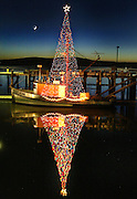 For the past 4 years Frank Blagg 60, of Bodega Bay has been decorating his salmon boat for Christmas. The boat is 90 years old and has been in Franks family since 1955. Acme, the name of the boat, is parked at Bodega Bay marina right off Highway 1 along the California coast. The boat will be docked for a couple of months until Salmon season starts.