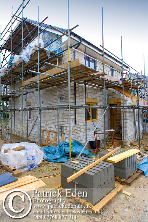 Eco Housing, Thermal wall insulation, double glazing, Nettleston, Isle of Wight, England, UK