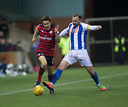 13th February 2018, Rugby Park, Kilmarnock, Scotland; Scottish Premiership football, Kilmarnock versus Dundee; Cammy Kerr of Dundee goes past Kris Boyd of Kilmarnock