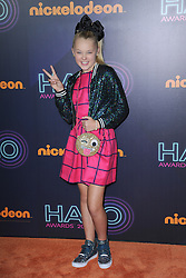 November 11, 2016 - New York, NY, USA - November 11, 2016  New York City..JoJo Siwa, attends the 2016 Nickelodeon HALO awards at Basketball City Pier 36  South Street on November 11, 2016 in New York City. (Credit Image: © Callahan/Ace Pictures via ZUMA Press)